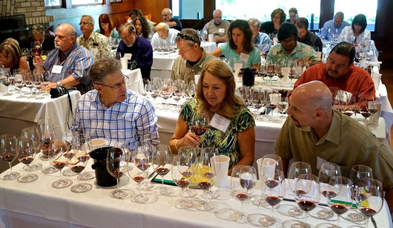 Rutherford - wine writers gathered to taste the 2010s