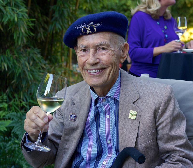 A - Grgich - CU Mike with wine glass