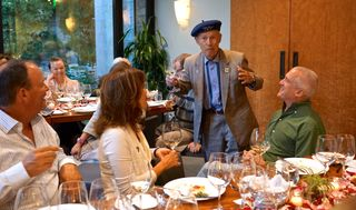A - Grgich - Mike speaks to the dinner group; that's Bardessono GM Jim Treadway on the right