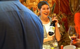 Rutherford- Nancy O'Connell from El Molino pours Chardonnay and Pinot Noir