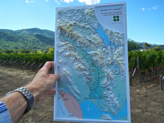 Map - map in vineyards