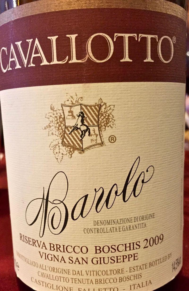 Cavallotto Barolo Bricco Boschis, Vigne San Giuseppe, Riserva