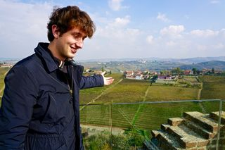 Luca Giacosa points out home