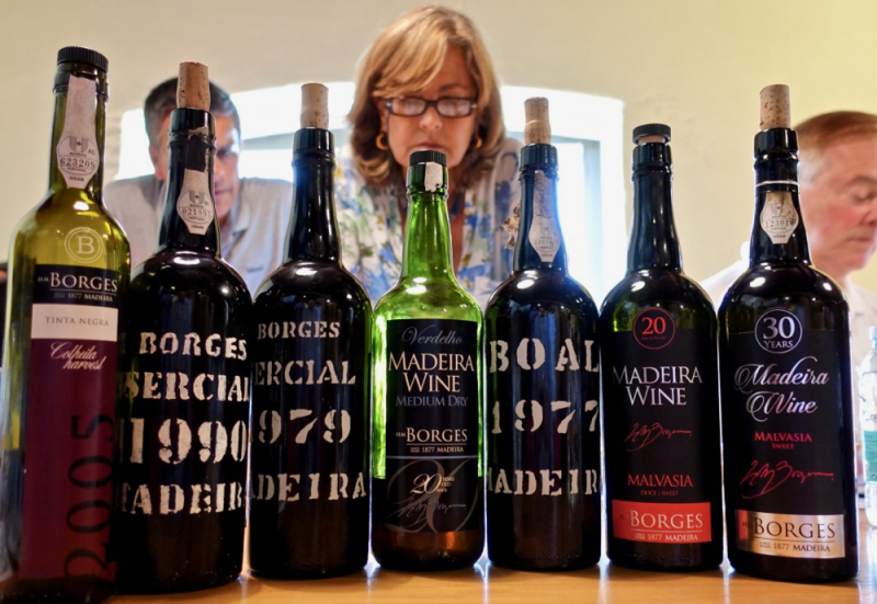 Borges Madeiras tasted with Helena