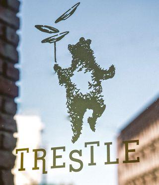 Logo on front door