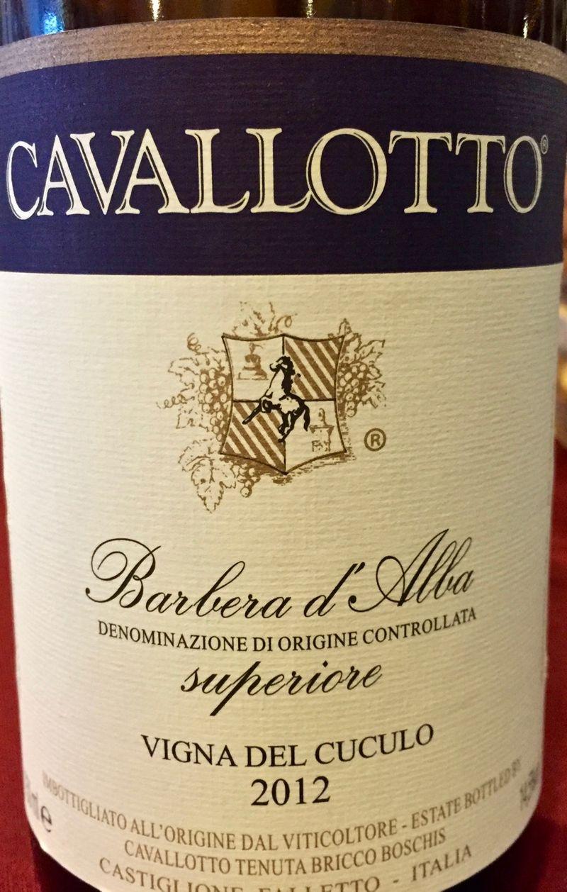 Cavallotto Barbera d'Alba Superiore, Vigne del Cuculo