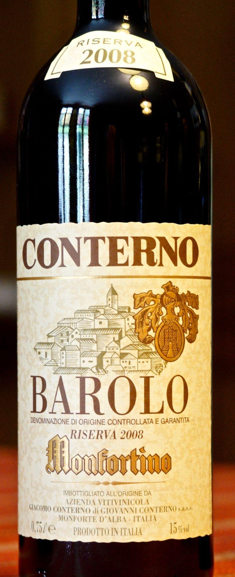 CU Label Giacomo Conterno Barolo, Monfortino