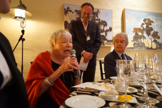 Margrit at table