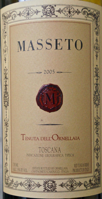 CU Masseto label