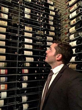 Josh in cellar at Guido