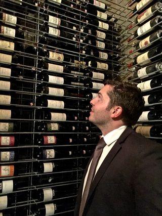 Josh in cellar at Guido