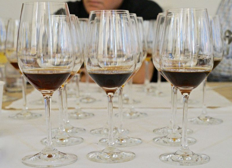 CU stemware filled with Maderias