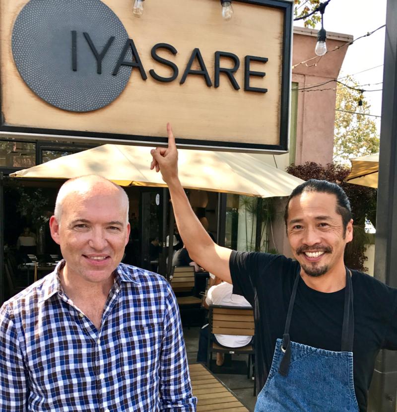 Niall Cantwell and chef Shotaro Kamio
