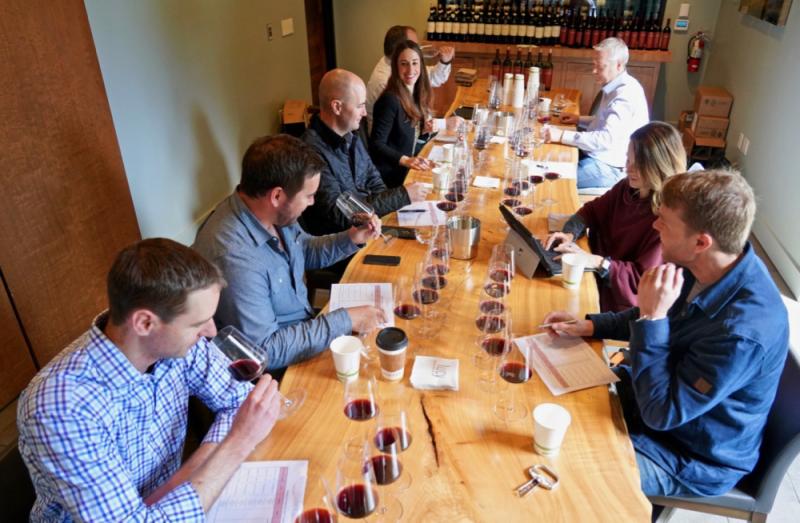 Pahlmeyer staff tasting 30 vintages