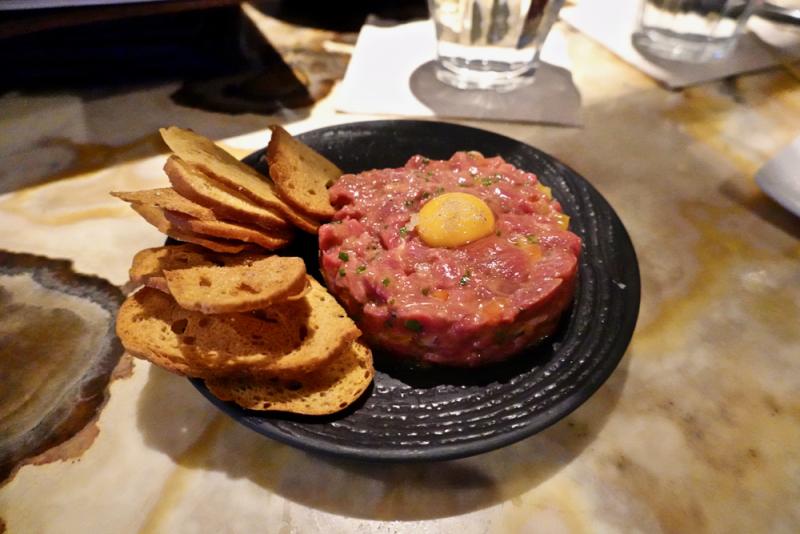 Bar Oso  beef tartare