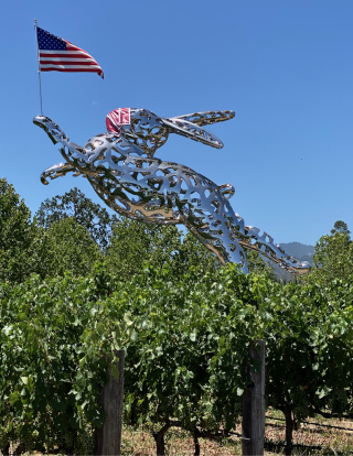 Bunny Foo Foo at Hall Winery  St. Helena